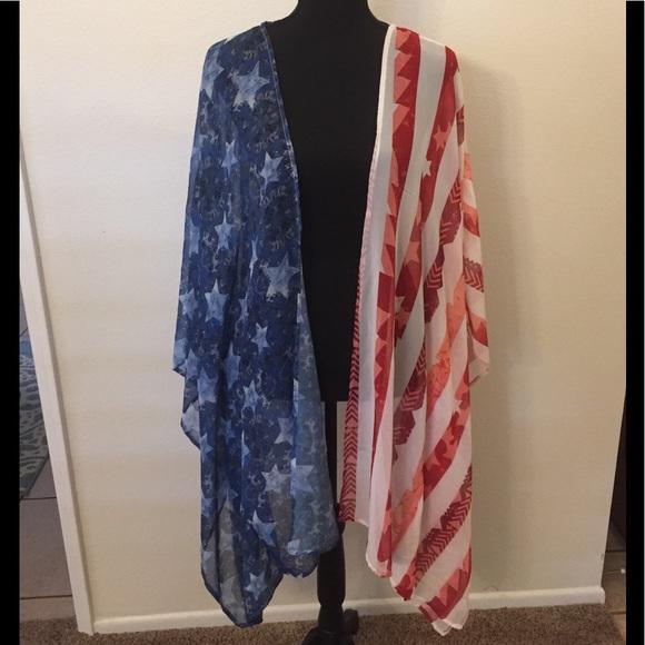 8977f49aed love on a hanger Swim | American Flag Kimono Size 2xl | Poshmark